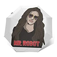 Mr Robot Darlene Windproof Compact Auto Open and Close Folding Umbrella,Automatic Foldable Travel Parasol Umbrella