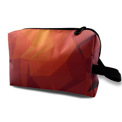 Travel Cosmetic Bag Artistic Geometry Shape Pattern Lady Make-up Organizer Clutch Bag with Zipper Toiletry Storage Pouch -