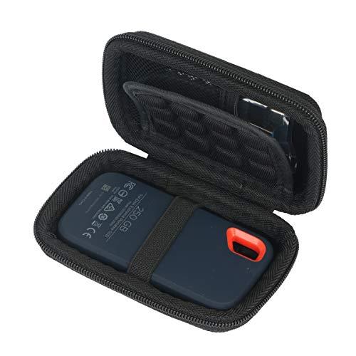 Khanka Hart Reise Fall Tragen Tasche case für SanDisk Extreme Portable SSD1TB/250GB/500GB.(Nur Tasche)