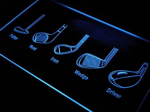 ADV PRO s201-b Golf steel STIFF Club Caf?Shop Neon Light Sign Barlicht Neonlicht Lichtwerbung