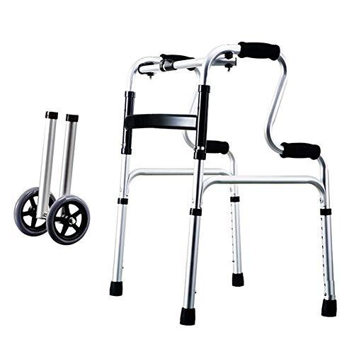 SXFYMWY Walker 8 Gear Height Adjustable mit Non-Slip Pad Multifunction One-Click Falten Walker geeignet für behinderte Menschen,C