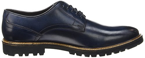 Base London Barrage, Chaussures Lacées Homme Bleu (Washed Blue)