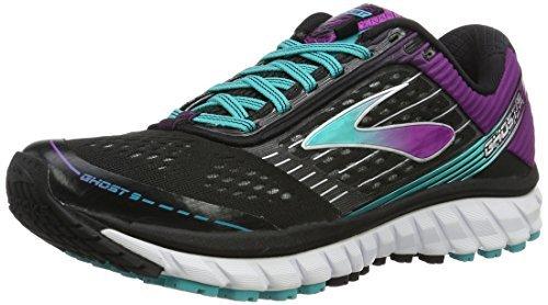 Brooks Damen Laufschuh Neutral Ghost 9 2A-Weite (schmal) Schwarz - 120225 2A 092 (40.5) (Damen Laufschuhe Weite)