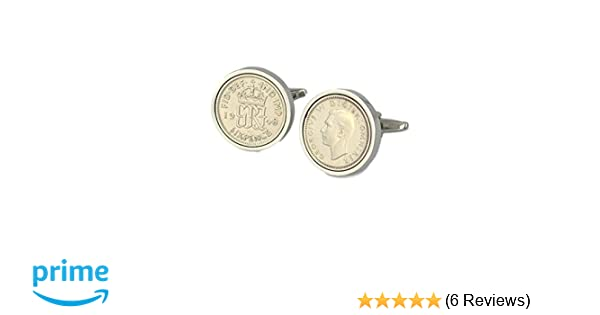 70th Birthday Gift for a man 1949 lucky sixpence tie clip Real Original Coin