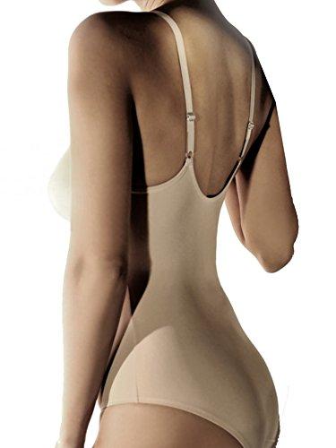 Lady Bella Lingerie PA0338 Body Donna in Cotone, Coppa B preformata senza Ferretto esenza cuciturec on Sostegno Laterale Imbottito, Tessuto anallergico Leggero e Traspirante Made in Italy Bianco