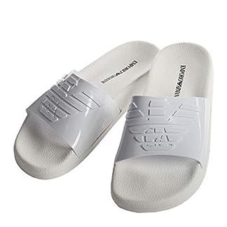 EMPORIO ARMANI Sandalias de Baño para Mujer – Zapatillas, Zapatos de Baño, Logo Grande, Monocromo
