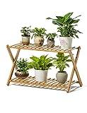 Pflanzenregale Bambus Pflanzenständer Blumen Display Regal Multilayer Lagerregal für Indoor Garten Balkon Blumenständer