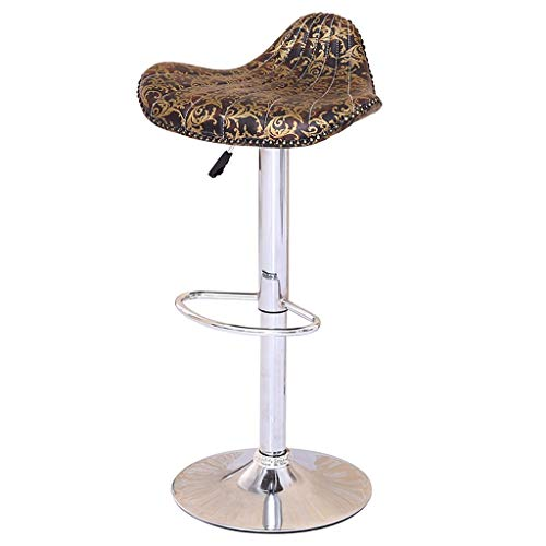 S&RL Barhocker Barhocker Barhocker Gaslift Hochstuhl Continental Vintage Lounge Chair Esszimmerstuhl Rezeption Stuhl Muster Shell Hocker mit Fußstütze Verchromtes Gerüsthaus Barhocker - Rezeption Shell