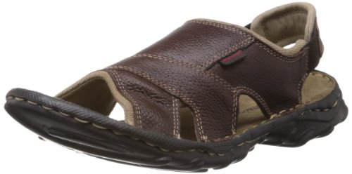 Red Tape Men's Brown Leather Sandals & Floaters (RSS0972B 7) - 7 UK
