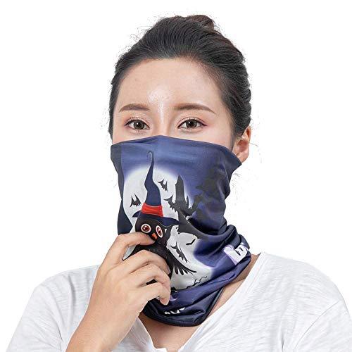 Qiusa Halloween Neutral Outdoor Kopf Schal Hals Winddicht Gesichtsmaske Sonnenschutz Stirnband (Farbe : E)