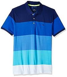 Park Avenue Mens Polo (8907575369872_PCKA00496-B6_44_Dark Blue)