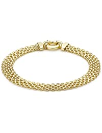 Carissima Gold Women's 9 ct Yellow Gold Bismark Bracelet of Length 19 cm