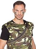 Patronengürtel Gurt Munitionsgürtel Munition Gürtel Patrone Army Kostüm Fasching