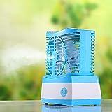 TianranRT Refroidisseur D'Air Refroidi Par Eau,Ventilateur D'Humidification Ventilateur de Refroidisseur D'Air Conditionné Pour Ordinateur de Bureau Usb,Bleu