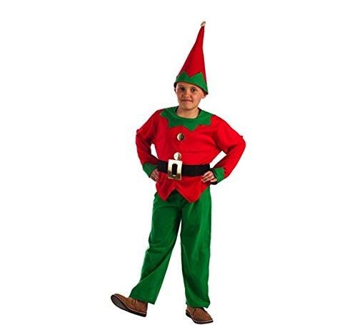 577fdf4eb El Rey del Carnaval Disfraz de Elfo Rojo y Verde para niño
