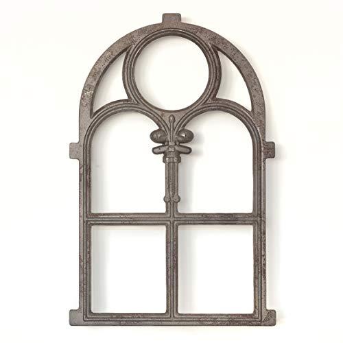 Antikas - Eisenfenster, Kirchenfenster Rundbogen, Gusseisen in Top-Qualität