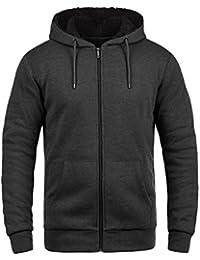 !Solid BertiZip Veste En Sweat Zippé Sweat-Shirt À Capuche Pour Homme À Capuche Doublure Polaire Avec Fermeture Éclair