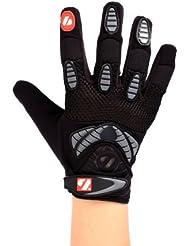 Barnett FRG-02 - Guantes de receptor para fútbol americano, color negro Talla:large