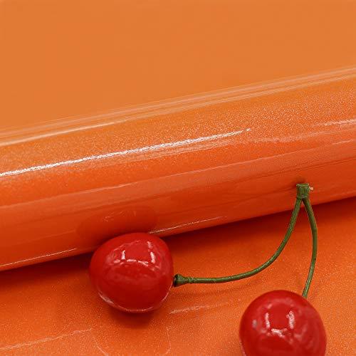carta adesiva per mobili perlato arancio carta da parati adesiva muro 30cm*300cm pvc impermeabile pellicola adesiva per mobile rinnovato mobili da cucina autoadesivo per guardaroba