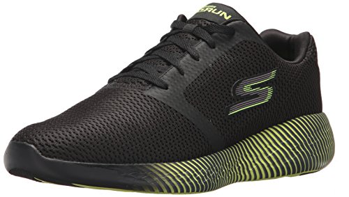 Skechers Performance Go Run 600-Spectra, Scarpe Sportive Indoor Uomo, Nero (Black/Lime) 45 EU