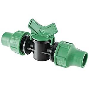 GF 06604 Vanne d'Arrêt pour Tuyau Vert 16 mm