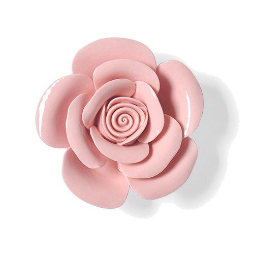 Lx.AZ.Kx Fiore di ceramica Stereo parete decorazione parete decorazione decorazioni a parete soggiorno Tv parete Wall-Hanging Decorazioni,Rosa(media)