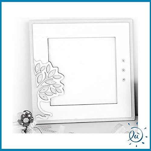 Portafoto albero della vita da tavolo in legno misura 13x13 cm | cornici portafoto moderne bomboniere e idee regalo casa e coppia