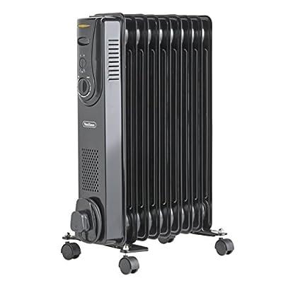 VonHaus Black Fin Oil Filled Radiators - 6, 7, 9 & 11 Fin Heaters