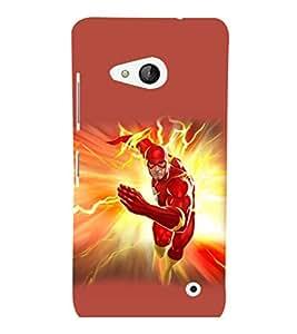 printtech Lightening Superhero Back Case Cover for Nokia Lumia 550::Microsoft Lumia 550