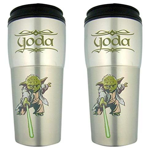 Star Wars Darth Vader und Yoda Reisebecher, Edelstahl, 454 ml, 2 Stück