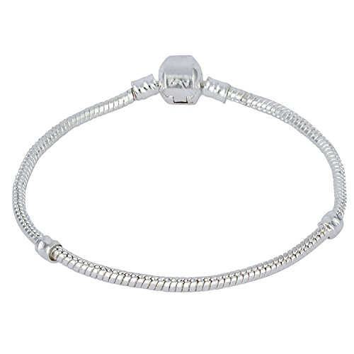 Snake Chain Bracelet for European Charms Fits Swarovski Pandora Length 8in 20cm