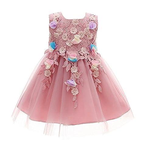 lila Baby Mädchen Kleid Prinzessin Hochzeit Geburtstag Taufen Kleid