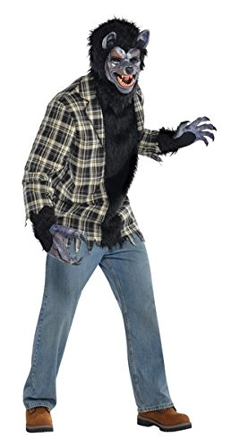 Imagen de disfraz de hombre lobo rabioso para hombres en varias tallas para halloween