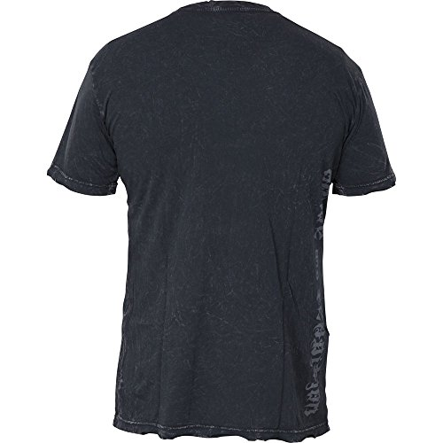 Affliction T-Shirt Hannya Schwarz Schwarz