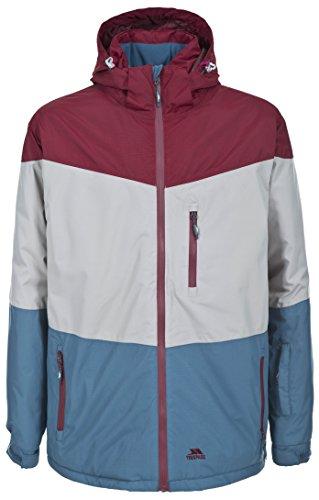 Trespass Mens Everguy Waterproof Padded Colour Block Ski Jacket Burgundy