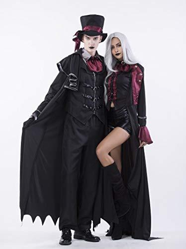 (GYH Frauen Männer Bekleidung Halloween Film Cosplay Hexe Vampir Kostüm Earl Paar Tragen Party,M)