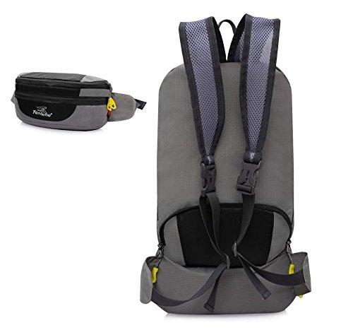 Borsa all'aperto alpinismo piegato tasche di borsa a tracolla unisex coppia , orange Black