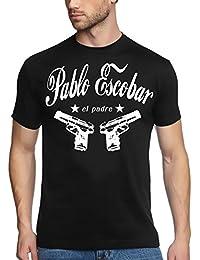 PABLO ESCOBAR el padre cocaine t-shirt kokain schwarz/weiss