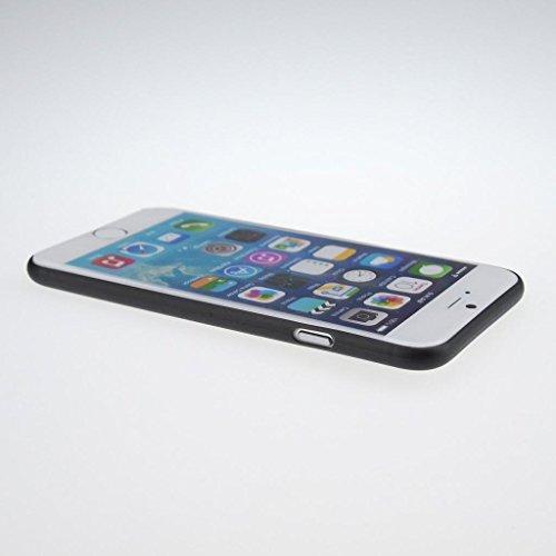 Easyplace®–Cover Case brinata–Ultra Dünn SLIM 0,3MM–WEIß satiniert–Apple iPhone 6/6S Plus–Robuste Schutzhülle rot