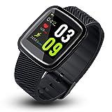 Reloj Inteligente Pulsera de Actividad Inteligente, Toque Completo Pantalla Color Smartwatch Reloj de Fitness con Pulsómetro, Múltiples Modos de Deporte y Podómetro para Mujeres Hombres niños