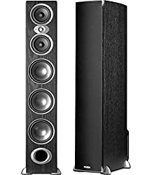 Polk Audio RTi A9 (Black) Tower Speakers Pair, 3-Way, 500W, 90 dB, 8 Ohm- 3 Yr. India Warranty.