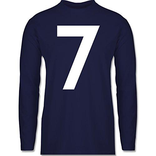 Shirtracer American Football - Football Pittsburgh 7 - Herren Langarmshirt Navy Blau