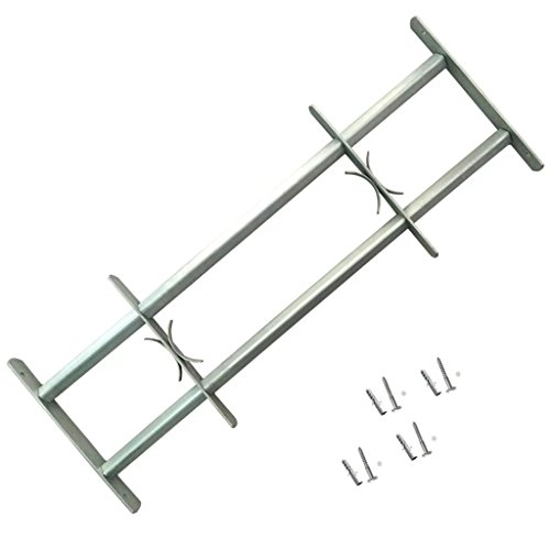 Abwehrgitter für Fenster von 700-1050 mm, Höhe 300 mm, 2 Schläuche aus verzinktem Stahl