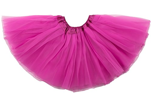 Dancina Mädchen Tüllrock Tutu Ballettrock Classic 2-7 Jahre Pink (Einfache Halloween Kostüme Für Zwei Freunde)