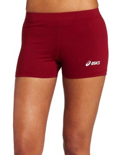 ASICS Women's Low Cut Short, Cardinal, X-Small (Asics Volleyball Spandex)