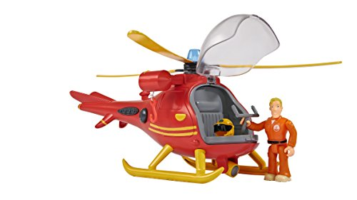 feuerwehrmann sam tom thomas Simba 109251661 - Feuerwehrmann Sam Hubschrauber mit Figur