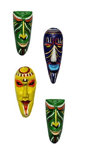 New Life Terracotta Home Decorative Small Mask Combo Wall Hanging-4 pcs