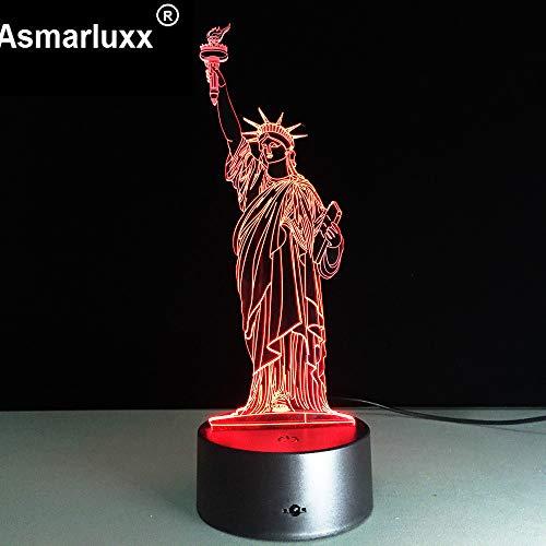 US Liberty 3D Nachtlicht Lampable Stimmung Lampe LED Licht DC USB dekorative Tischlampe Home Deco Geschenk für Freunde Kinder