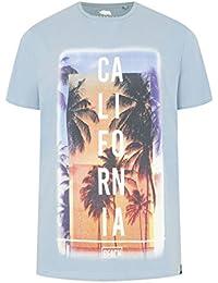 Mens Badrhino 'california' Slogan T-shirt - Tall