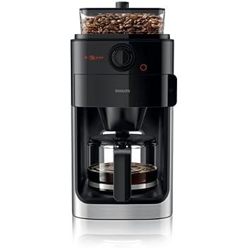 Philips HD7761/00 Grind&Brew Kaffeemaschine, schwarz/Metall, Einzelbohnenbehälter